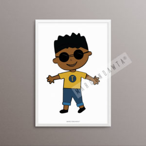"""""""FRESHER THAN YOUUU"""" Black Boy Artwork. You Can Personalise This Print By Choosing [A4 Unframed Print]"""